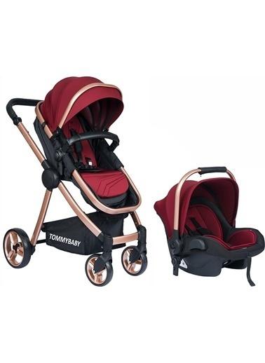 Tommy Baby Toranto Gold Vip Travel Sistem Bebek Arabası + Puset Bordo